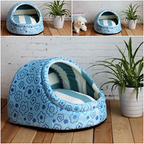 1-Pcs First-class Popular Pets Half Covered Bed Size M Puppy Tent Sweet Style Cozy House Color Type Blue (Trailer Hitch Pet Step compare prices)