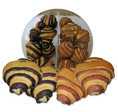 Kosher Pastries (Beigel's Chocolate & Cinnamon Rugelach - Divided container total of 22 Rugelach)