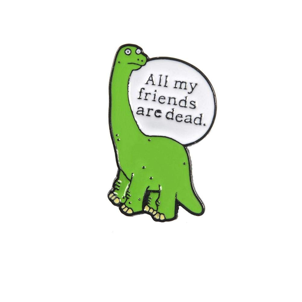 Febelle Damen Cartoon-Dinosaurier-Brosche, niedliche Tier-Erinnerungsnadeln für Kleidung, Hut, Tasche, Zubehör