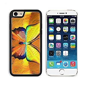 Butterfly Art Orange 3DCom iPhone 6 Cover Premium Aluminium Design TPU Case Open Ports Customized Made to Order