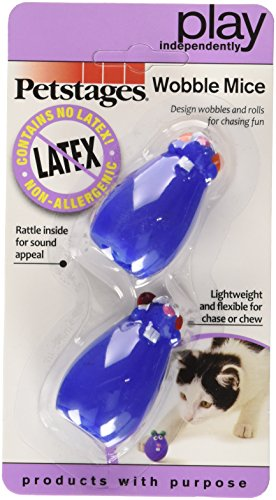 Petstages Mouse Cat Toy - Petstages Latex Free Toy Mice for Cats