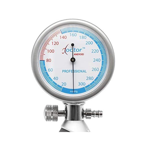AIESI® Esfigmomanometro Manual Profesional Aneroide Tensiómetro palmar con brazalete de nylon para adultos DOCTOR… 10