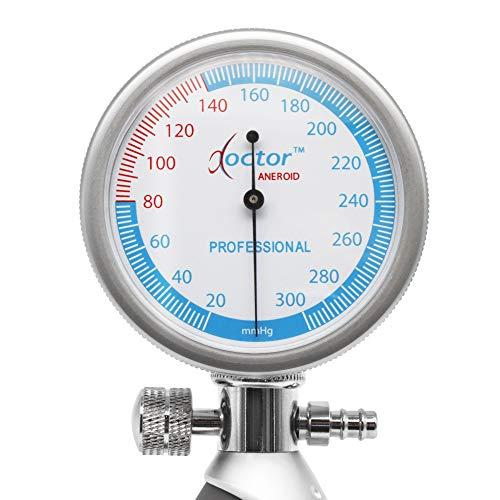 AIESI Esfigmomanometro Tensiómetro Manual Profesional Aneroide palmar con brazalete de nylon para adultos DOCTOR ANEROID ✓ Medidor de presión sanguinea ...