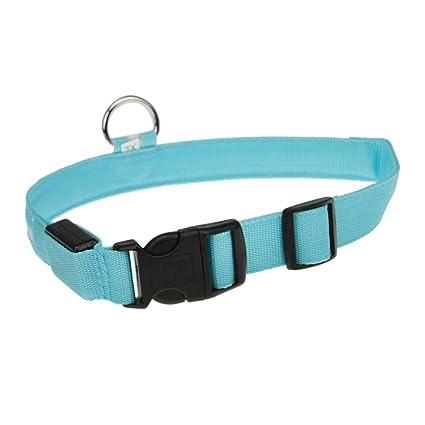 BXT Collar LED de nylon para mascotas como Perros y Gatos,con la función de