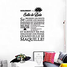 KUPARK Toilet Bathroom Rules French Quote Removable Wall Sticker Vinyl Art Decals DIY Home Decor