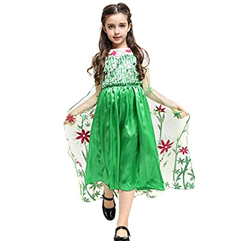 Fancy Elsa, Cinderella Dresses for girls inspired by Frozen (4-5 years, Green - Frozen Party Fever)