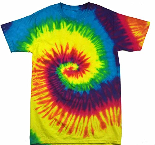 [Colortone Tie Dye SM Reactive Rainbow] (60s Costume)