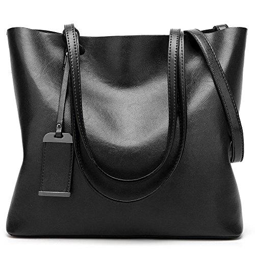 Handle Top Tote Satchel Women Messenger Bag WeiSN Bag Black Purse Shoulder Handbags xgnwCAEEHq