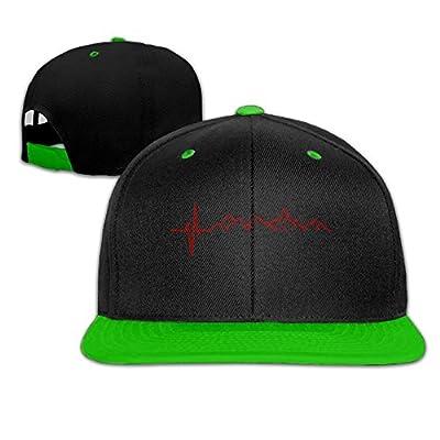 AJHGD Mountain Heartbeat Unisex Hiphop Flat Bill Snapback Hats Plain Cotton Baseball Caps for Women Men