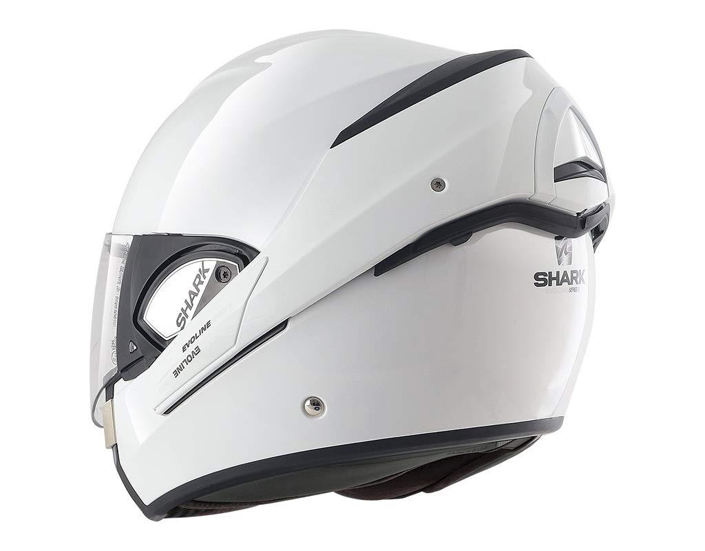 BLK Shark HE9350EBLKXS Evoline S3 Uni Flip Front Motorcycle Helmet XS Black