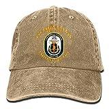 USS Jason Dunham DDG 109 Denim Dad Cap Baseball Hat Adjustable Sun Cap