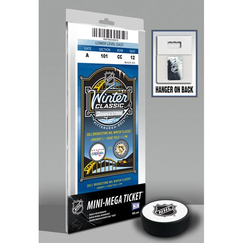 NHL Pittsburgh Penguins & Washington Capitals 2011 Winter Classic Mini Mega Replica Game Ticket