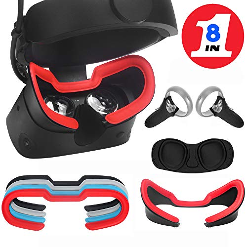 MASiKEN Face Mask Pad Leather & Touch Controller Grip Accessories & Facial Interface Bracket & VR Lens Protect Cover for…