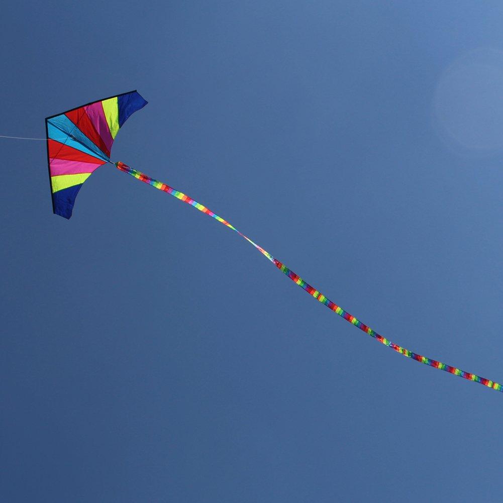 10 Meters Rainbow Bar Kite Tail for Delta Kite Stunt Kite Kite Accessory #A