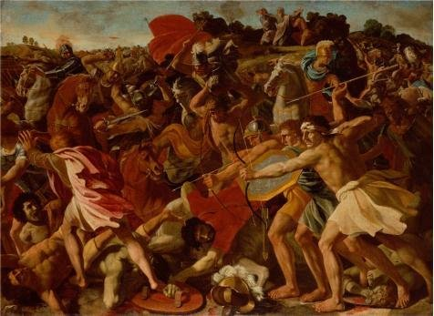 Shake It Off Dance Costume (Oil Painting 'The Victory Of Joshua Over The Amalekites,1625 By Nicolas Poussin' 8 x 11 inch / 20 x 28 cm , on High Definition HD canvas prints is for Gifts And Bed Room, Garage And Powder Roo decor)