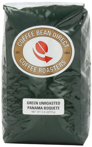 Green Unroasted Panama Boquete, Whole Bean Coffee, 5-Pound Bag