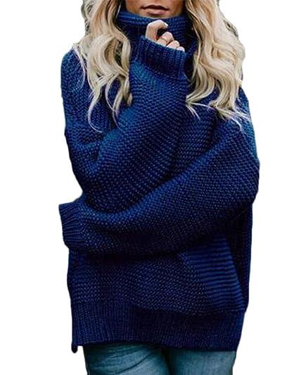 buy online e975c 22a12 Damen Strickpullover Sweater Rollkragen Pullover Kuscheliger ...