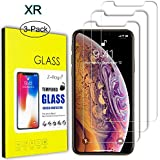 "iPhone XR Screen Protector Glass, Z-Roya Tempered Glass Screen Protector for Apple iPhone XR 6.1"" [3D Touch Compatible] 0.3mm Screen Protection Case Fit 99% Touch Accurate -3 Pack"