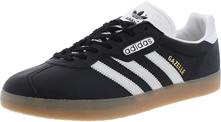 Amazon.com: adidas Gazelle Super Mens in Black/Vintage White/Gum ...
