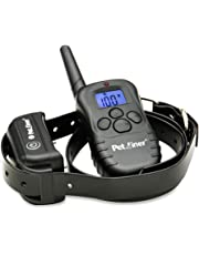Petrainer PET998DB1 100% Waterproof and Rechargeable Dog Training Collar with Safe Beep, Vibration and Shock Electric Basic Dog Collar (330 Yards)
