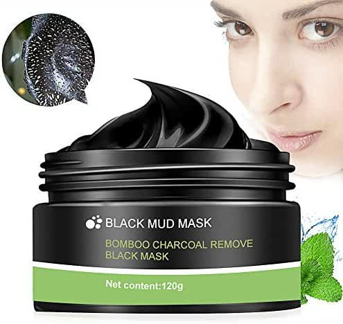 Peel Off Mask, Blackhead Peel Off Mask, Black Mask, Blackhead Remover Mask, Deep Cleaning Mask Tearing Style Purifying Mask, Active Natural Charcoal Mask Oil-control Anti Pore Acne Treatment (120g)