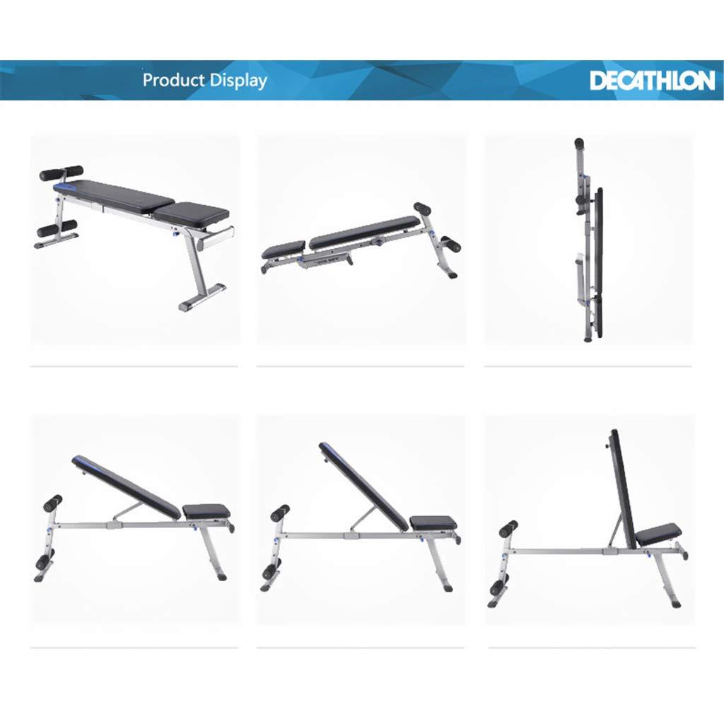 banco de pesas ajustable con extensión de piernas y acolchado de espuma de alta densidad, entrenamiento multifuncional con ejercicios, banqueta, ...
