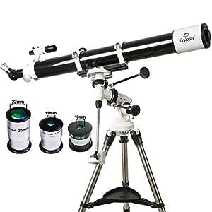 Gskyer telescopio, EQ901000tecnología alemana astronomía telescopio refractor de viaje