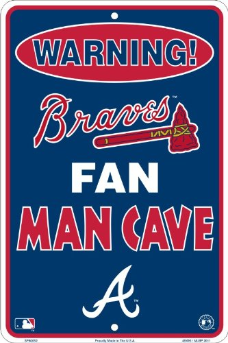 Atlanta Braves Sign Street - HangTime Atlanta Braves Fan Man Cave Metal Sign