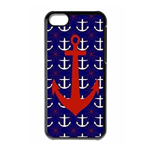 [MEIYING DIY CASE] For Iphone 5c -Retro Vintage Anchor Pattern-IKAI0448035