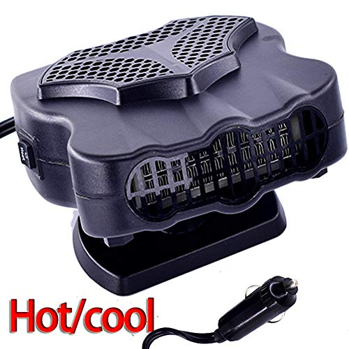 Car Heater Fan 12V, 30S Fast Heating Portable Car Auto Vehicle Electronic Heater or Fan 2 in 1 Heating Cooling Function Windshield Demister Defroster