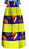 ARTFFEL-Women Plus Size Vintage Africa Printed Big Hem Dashiki Long Swing Skirts 9 L