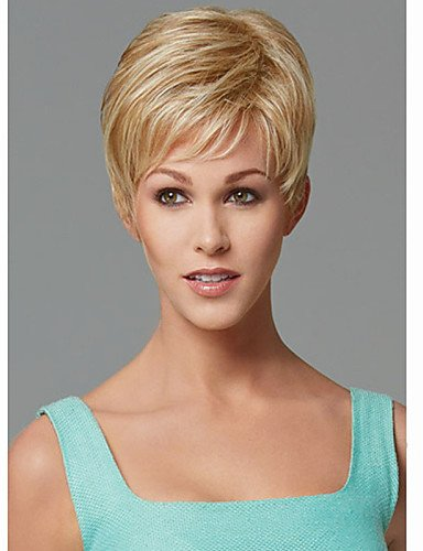 liap-Beauty Wigs Europe and the United States Short Blonde Straight Synthetic Wig Side (Costumes Commission Uk)