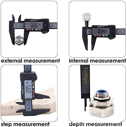PJPPJH Easy Reading Digital Caliper, Electronic Measuring Tool 6 Inch/150mm with LargeVernier Caliper Support Inch/Metric Conversion 2PCS Laboratory Home Use