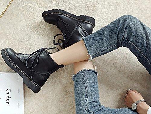 Classique Femme Bout Chaussures Aisun Rond Plates qSn5x6xdw