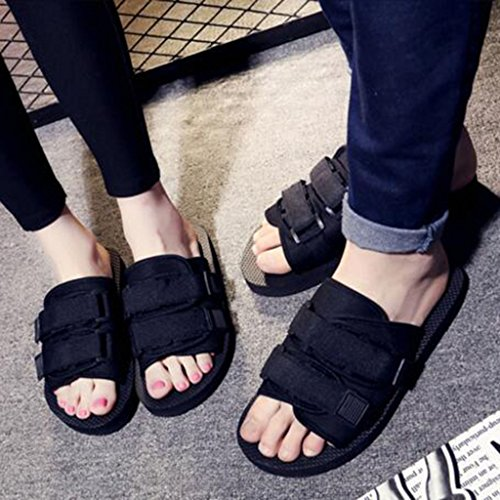 EU43 UK9 Black Tamaño Thick Sandalias Women Shoes MuMa Beach Slippers CN44 y Black Color Men Sandals Shoes Chanclas Tow Shoes Couples UCxnRwTq