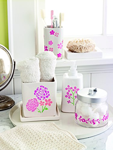 Martha Stewart Crafts Adhesive Stencils (5.75 by 7.75-Inch), 32269 19 Blossoms Designs