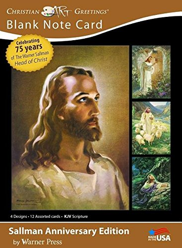 Card-Boxed-Head Of Christ/Sallman Art Assortment P