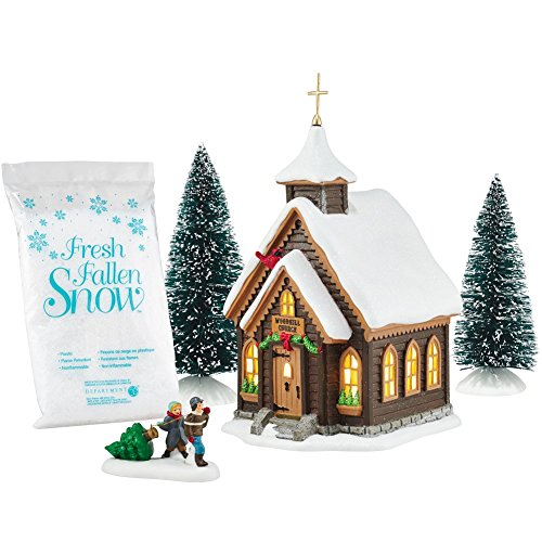 Department 56 holiday in tne woods christmas 39 eve church for Christmas place setting gift ideas