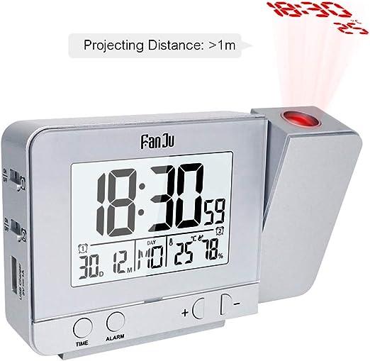 Despertador Proyector, Despertador Reloj Digital de Proyecció con ...