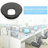 Black 2 inch Desk Cord Grommet 10 Pcs Desk Hole