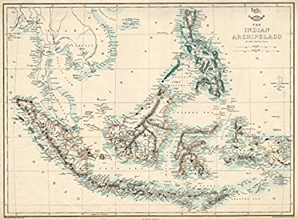 Amazon.com: Indian Archipelago. East Ins Sarawak Kingdom ... on old indian home, old indian car, british india map, old indian calendar, oval world map, ancient india map, old compass vector, medieval india map, old indian flag, old indian area, old indian painting, telugu india map, old indian water, western ghats india map, old indian art, old plat maps of indiana, old indian mat, old indian film, early india map,