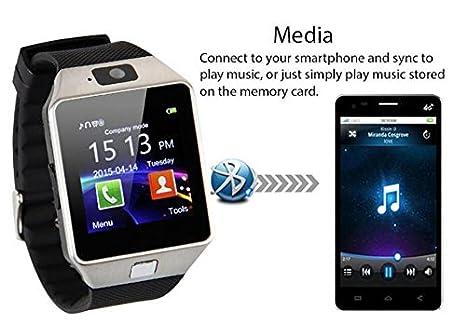 Cámara de Reloj Inteligente Bluetooth Smart muñeca Reloj teléfono ...