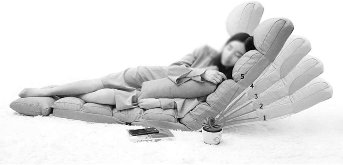 CN Bodenstuhl Verstellbarer Faltbarer Sofa-Stuhl Mit R/ückenlehne Stilvolles Sofa Ideal Zum Lesen Von Spielen Meditieren