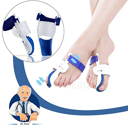 Bunion Correction Pads, Foot Pain Relief Splint, Big Toe Straightener Protector, Overlapping Toes Orthodontic Separators, Plantar Fasciitis Inserts Alignment Corrector - Hallux Valgus, Hammer Toe by XEMZ