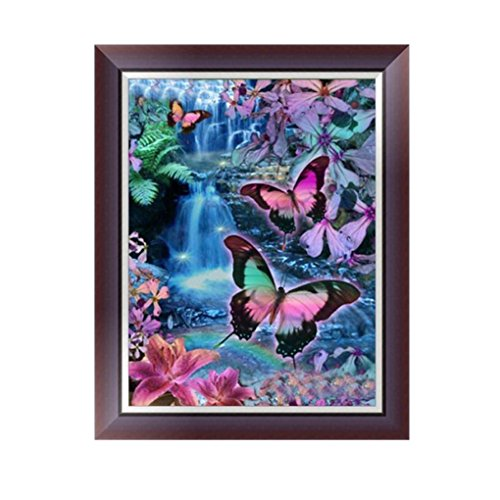Usstore 1PC 5D DIY Cartoon Insect Painting Diamond Embroidery Rhinestone Diamond Painting Cross Crafts Stitch for Home Room Decoration Mural Collect (A)