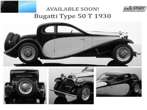 1/43 ブガッティ タイプ 50 T 1930 (ブラック/ブルー) LS416D