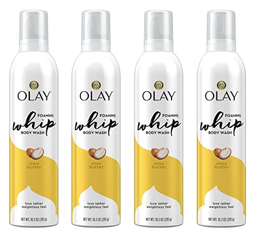 Olay Shea Butter Scent Foaming Whip Body Wash for Women, 10.3 Fluid Ounce (Pack of 4)