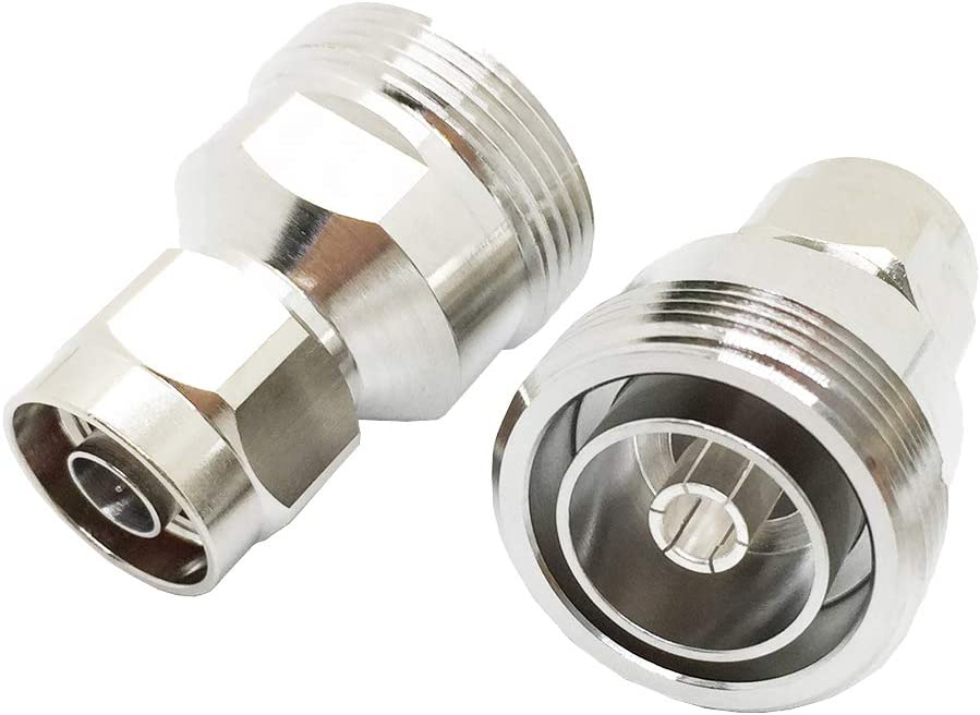 1 x L29 7//16 DIN female jack to N male plug RF coaxial adapter connector USA