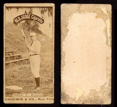 1887 Old Judge N172 Regular Baseball Card 460 Stephen Toole Of