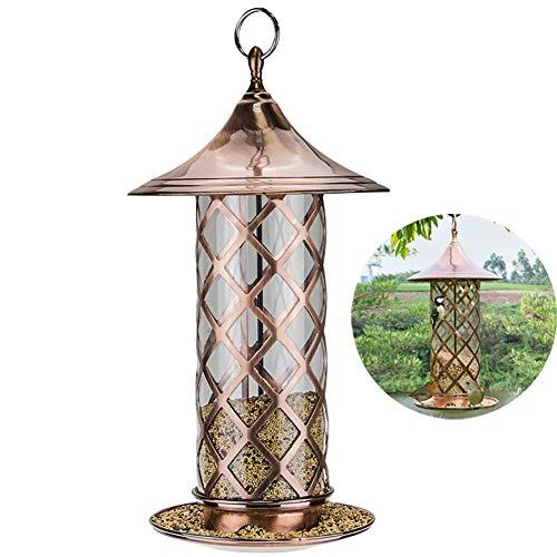 ZDYLM-Y Hummingbird Feeder, Hanging Metal Hopper Bird Feeder, for Garden Yard Outdoor Decoration
